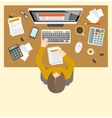 Accounter management workplace vector image vector image