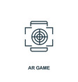 augmented reality game icon monochrome style vector image