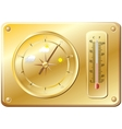 Barometer for determination of weather vector image vector image