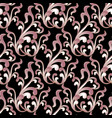 baroque damask floral seamless pattern vector image vector image