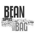 bean bag supplies text word cloud concept vector image vector image