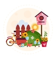 Big garden and farm set vector image vector image