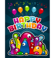 Birthday Party Monsters vector image