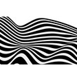 black and white wave stripe optical abstract vector image vector image