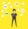 businessman idea insipration symbol male business vector image