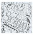 BWG offline gambling scam Word Cloud Concept vector image vector image