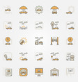 car insurance colorful icons vector image