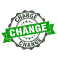 change stamp sign seal vector image vector image