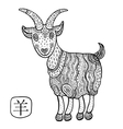 Chinese Zodiac Animal astrological sign goat vector image