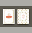 christmas greeting card vintage typographic quote vector image