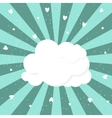 Cloud and Heart Background vector image