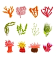 Coral Icons Set vector image vector image