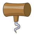 corkscrew icon cartoon style vector image