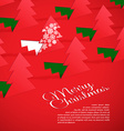 Creative Christmas tree formed from cut out paper vector image vector image