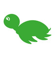 cute tortoise isolated icon vector image vector image