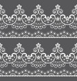 decorative seamless lace pattern - lace art vector image vector image