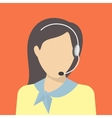 Female call centre operator vector image vector image