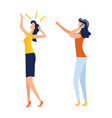 female characters making gestures cartoon vector image