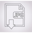 file type jpg icon vector image