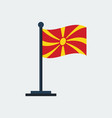 flag of macedoniaflag stand vector image