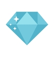 Flat design diamond vector image