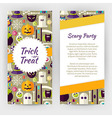 Flyer Template of Flat Design Halloween Party vector image vector image