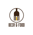 food and beer design template vector image vector image