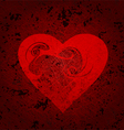 grungy heart vector image vector image