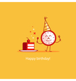 Happy birthday event celebration piece of cake vector image vector image
