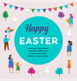 Happy easter scene with families vector image