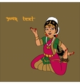 Indian dancer girlNice backgroundcard for your vector image vector image