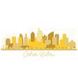 johor bahru malaysia city skyline golden vector image vector image