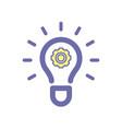 light bulb idea settings icon vector image
