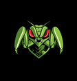 mantis emblem logo vector image vector image