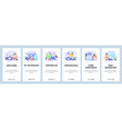 mobile app onboarding screens cyber sportsman vector image vector image