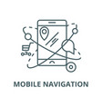 mobile navigationcommerce location line vector image vector image
