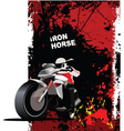 motorbike poster vector image vector image