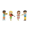 Musician children set vector image vector image