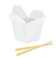 Noodle boxm with chopsticks vector image vector image