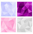 pink grey and violet triangle background vector image vector image