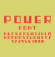 power bold font alphabet vector image