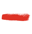 red brush stroke vector image