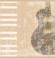 rock instruments background vector image vector image