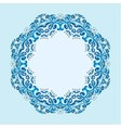 round frame from abstract element vector image vector image