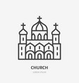 russian orthodox church flat line icon vector image