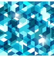 Seamless geometric background in blue Abstract vector image vector image