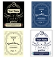 Set create your own bottle labels vector image vector image