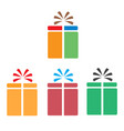 set gift box icon on white background flat style vector image vector image