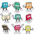 set of book cartoon vector image