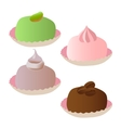 set of cakes 3 vector image vector image